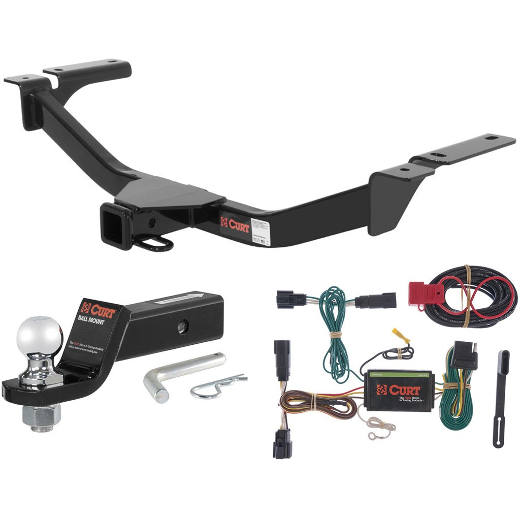 CURT Class 3 Trailer Hitch Tow Package with 2 Ball for 2015-2016 Ford Edge