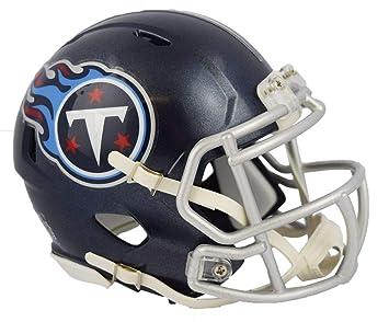 24b31fa32a9 Riddell Tennessee Titans 2018 Satin Navy Metallic Mini Helmet  Amazon.co.uk   Sports   Outdoors