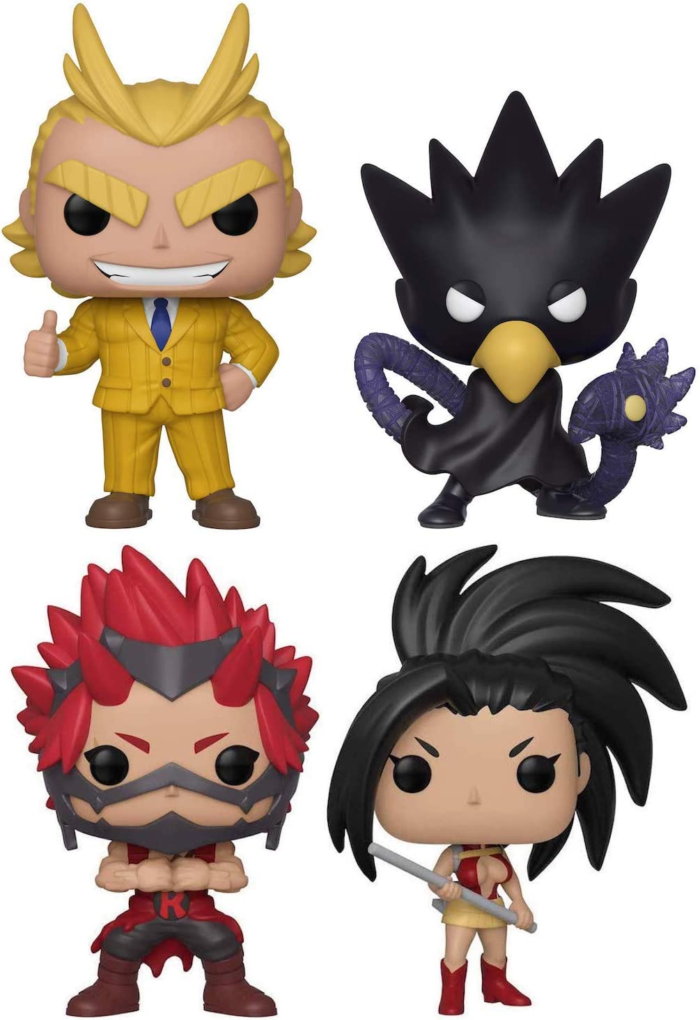 Funko Pop Animation My Hero Academia Teacher All Might Fumikage Tokoyami Momo Yaoyorozu And Eijiro Kirishima Set Of 4 In Bubble Pouches Toys Games