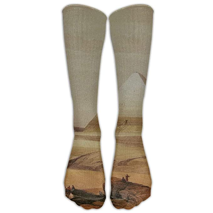 David Roberts Egypt Painting Pyramid Athletic Tube Stockings Women ...