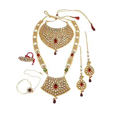 Muchmore Bollywood Fashion Indian Fabulous Bridal Necklace Set Traditional Partywear Jewellery ZISZ1EDt