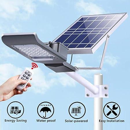 nnn Farola Solar Luces Solares De Jardín Reflector LED con Control Remoto Resistente Al Agua IP65 para Jardín Cerca Camino Estadio De Pasillo,30W-with Rod: Amazon.es: Hogar
