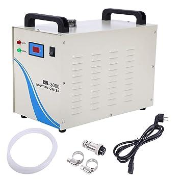 Paneltech 50W 3000AG / 5000AG / CW-5200DG 9L Agua Enfriador Industrial Chiller Industrial Agua Chiller Enfriador para CNC láser de Grabado Grabado máquinas ...