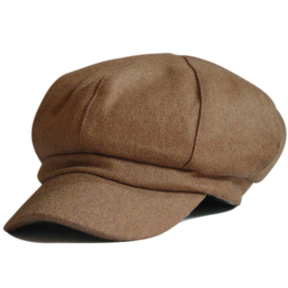 Vitality Shop Women's Wool Fedora Newsboy Hat Winter Cloth Cap Outdoor Heat HL-4742
