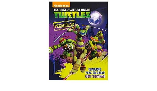 TORTUGAS NINJA - Libro pega color de tortugas ninja: Amazon ...