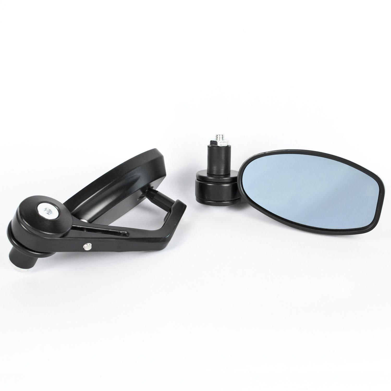 Retrovisores para manillar de moto ahuecados vista trasera scooter de Tekbox universales 2 unidades ciclomotor para moto tintados 22 mm ajustables