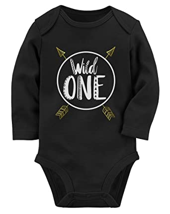 Wild One Baby Boys Girls 1st Birthday Gifts Year Old Long Sleeve Bodysuit NB