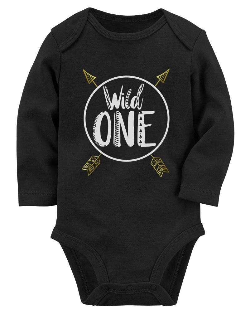 Wild One Baby Boys Girls 1st Birthday Gifts 1 Year Old Baby Long Sleeve Bodysuit