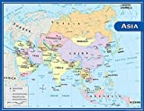 Teacher Created Resources Asia Map Chart, Multi Color (7652)