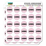 Sarai - Name Planner Calendar Scrapbooking Crafting Stickers - Pink Speckles - 50 1
