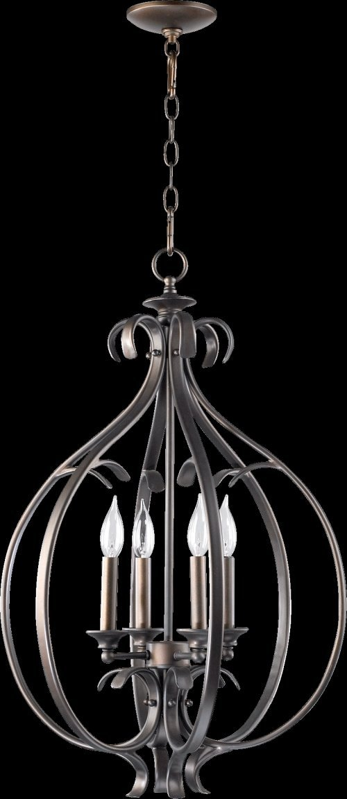 Quorum International 6894-4 Randolph 4 Light 19.25'' Foyer Pendant, Oiled Bronze by Quorum