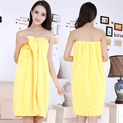 a6b710b5f2 Amazon.com: Women Bath Towel Microfiber Fabric Beach Towel Soft Wrap ...