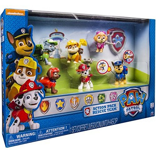 Paw Patrol 6 Pack Action Pups Rescue Team Set