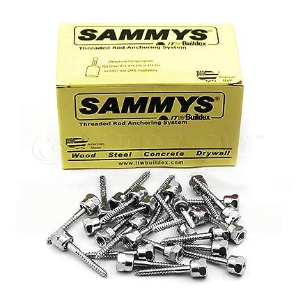 Sammys 8008957-25 Vertical Rod Anchor Super Screw with 3/8 in