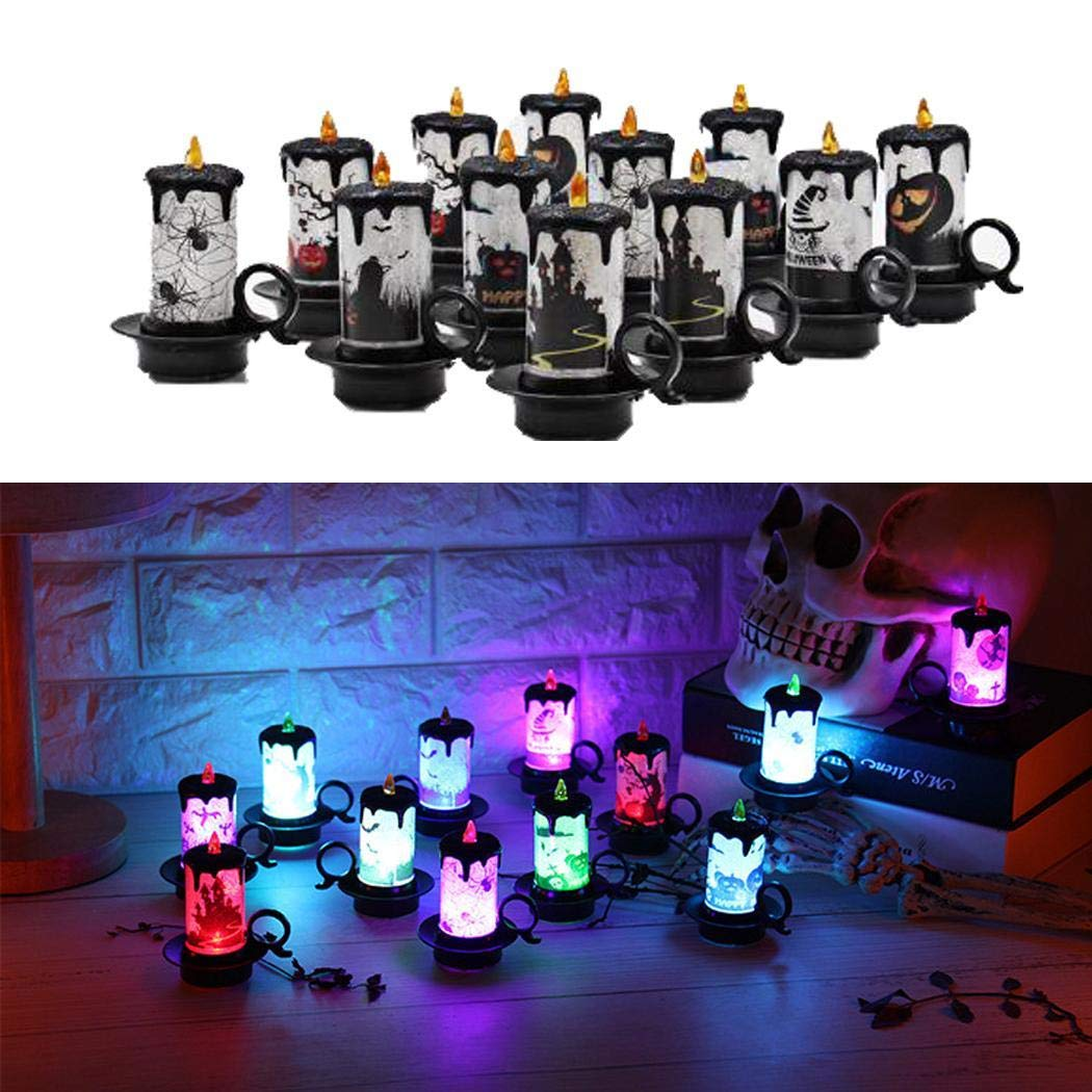 LED Candle Light Flameless Lamp Halloween Party Home Bar Decor Props Lanterns