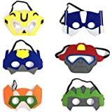 Costume Hero Party Generic Robots Favors Dress Up Masks Birthday Pretend Costumes Set of 6