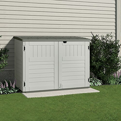 Suncast bms4700 the stow away horizontal storage shed for Horizontal storage shed