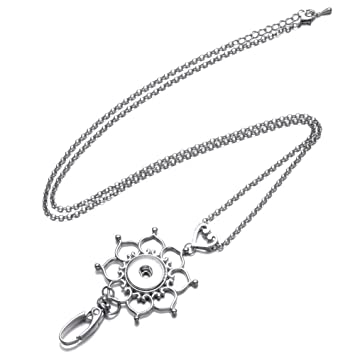 Soleebee retro 87cm silver chain id badge lanyard necklace with soleebee retro 87cm silver chain id badge lanyard necklace with rhinestones snap jewelry pendant clasp for mozeypictures Image collections