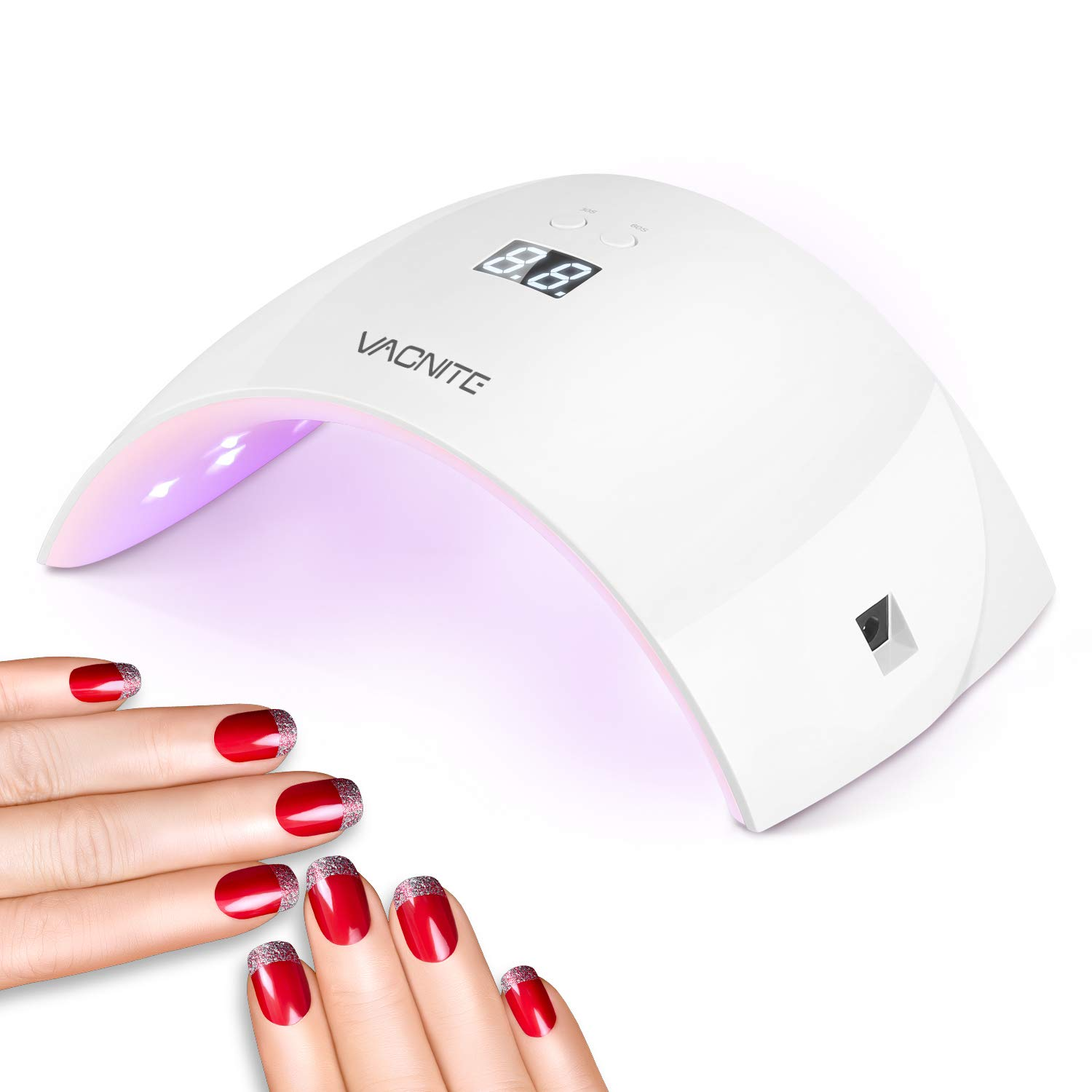 Nail Led Lcd Gels Dryer For 30s60s Timer With Automatic Vacnite Setting Fingernailamp; Sensor Uv Lamp24w Curing Toenail And qMpUzSV