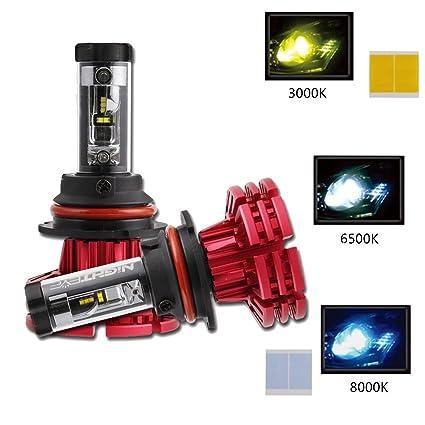 Novsight 9007 Led Headlight Bulbs 60w 10000lm 3000k 6500k 8000k Hi Lo Beam 2 Year Warranty
