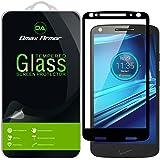 [2-Pack] Motorola Droid Turbo 2 Screen Protector, (Full Screen Coverage) Dmax Armor [Tempered Glass] Anti-Scratch, Anti-Fingerprint, Bubble Free, (Black)