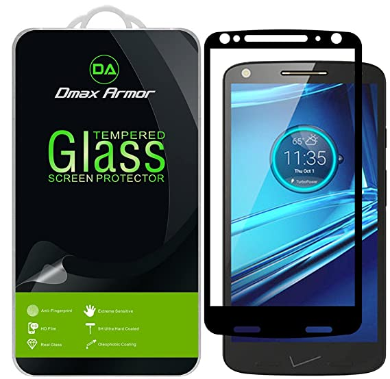 [2-Pack] Dmax Armor for Motorola Droid Turbo 2 Screen Protector, (