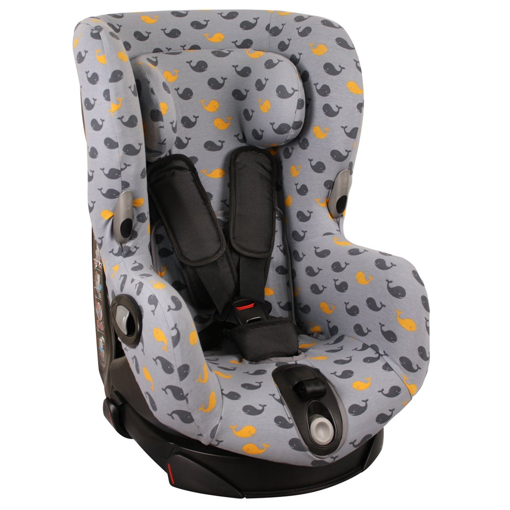 Cover for Maxi-Cosi Axiss Car Seat – Ukje – Grey Whales & # X2665;