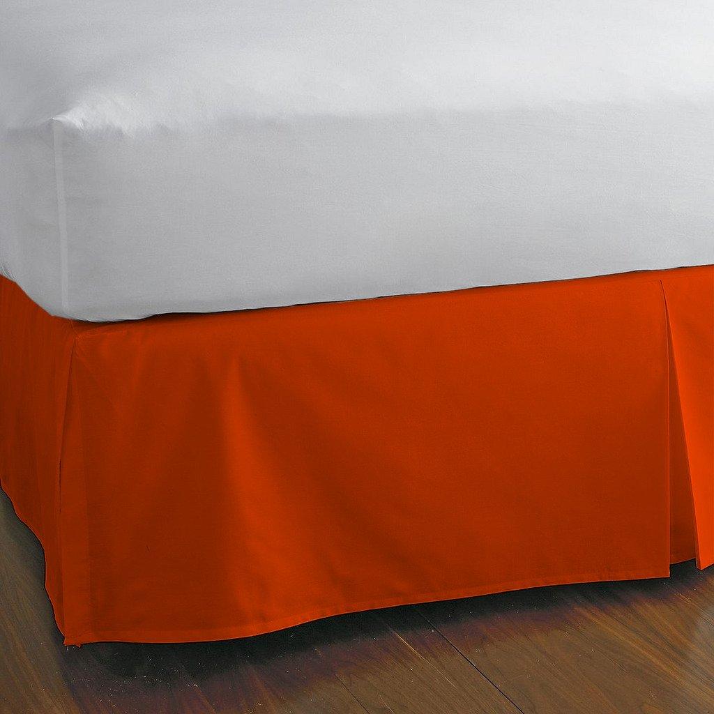 豪華な分割コーナーベッドスカート1000スレッド数100 %エジプト21インチドロップby Kotton Cultureソリッド(アクアブルー、カリフォルニアキング) (可能なすべてのサイズと29色) Twin-XL オレンジ 1SCBDSO2110TCAOrangeTXL B072P2ZHMC オレンジ Twin-XL