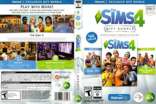 The Sims 4 Exclusive Gift Bundle | Base Game, Dine Out, Movie Hangout - Download ONLY
