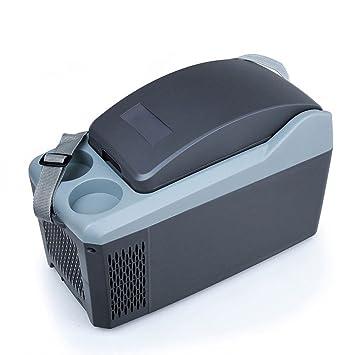 Amazon.es: HTZ Refrigerador Del Coche 10L Refrigerador Eléctrico Correa De Mano Portátil Mini Refrigerador Del Coche Calefacción 2 Taza Superior / 12V DC ...