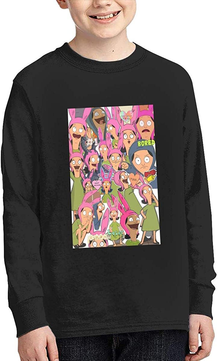 Bobs Burger Cotton Crew Neck Long Sleeve T-Shirt for Boys Girls