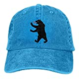 LETI LISW BearWashedBaseball Cap Adult Unisex Adjustable Hat