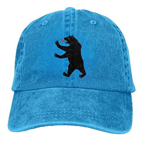 LETI LISW BearWashedBaseball Cap Adult Unisex Adjustable Hat by LETI LISW