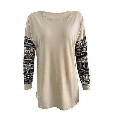 7d1d32759d3c09 Bluester Womens Long Sleeve Shirt Casual Blouse Loose Cotton Tops Lady T Shirt  Blouses  Amazon.co.uk  Clothing