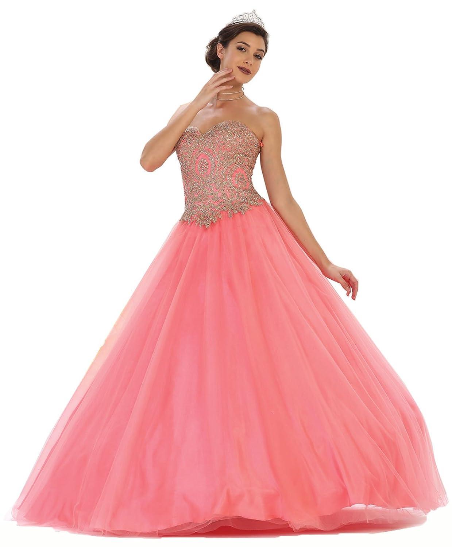 c79bdaae9d7 Layla K LK74 Strapless Sweet 16 Ball Dress at Amazon Women s Clothing store