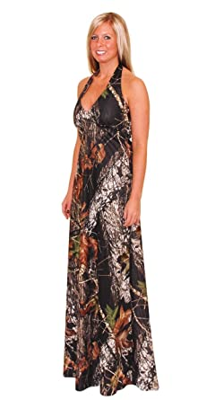 Camo Diva CADENCE Camo Prom Dress Halter Long Camo Prom Dress (3XL)