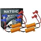 NATGIC 4pcs 50W 8 ohm LED Load Resistors Decoders for Turn Signal Lights, Headlights, Fog Lights Lamps, DRL with 8pcs…
