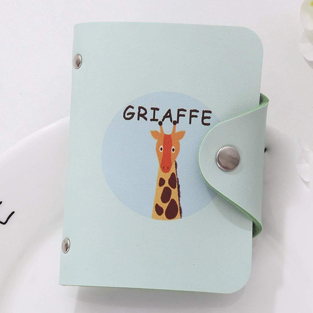 NRUTUP Fashion Creative Fresh Cute Animals Women Bank Card Package Coin Bag Credit Card(10.5X1X8cm,F) by NRUTUP (Image #2)