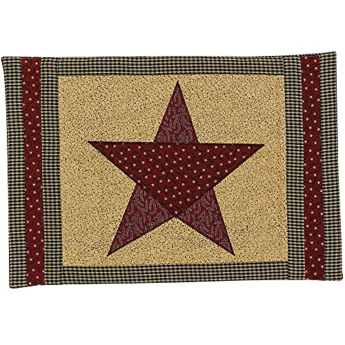 Country Star Placemats Southwestern Design, 19x13 Inches, Reversible