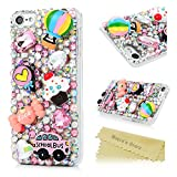 ice cream ipod case - iPod Touch 6 Case,Mavis's Diary Luxury 3D Handmade Bling Crystal Rhinestone Diamonds Hot Air Balloon School Bus Candy Ice Cream Fashion Cute Design Shockproof Protective Hard PC Cover