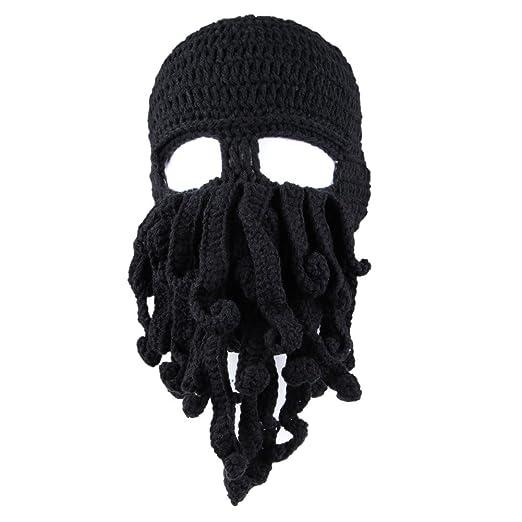 AWEIDS Tentacle Octopus Cthulhu Knit Beanie Hat Cap Wind Ski Mask Black d4d94789cf90