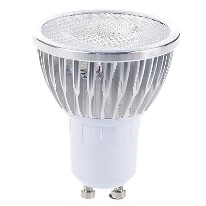 SODIAL(R) 10 X GU10 Bombilla Luz 3 LED 6W Regulable Alta Potencia Blanco