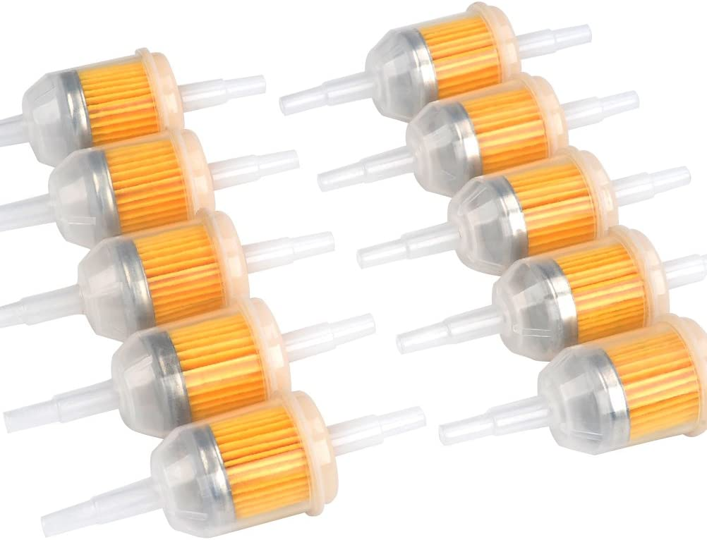 FOCCTS 10 St/ück Kraftstofffilter Gas/öl Fl/üssigkeitsfilter Benzinfilter f/ür 6mm,8mm Motorr/ädern Benzinmotoren,Maschinen zum Filtern von Benzin,Modell 131-261-275