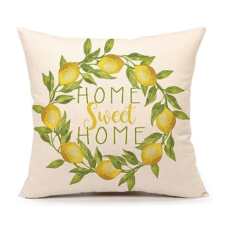 Amazon.com: 4TH Emotion Home Sweet Home - Funda de almohada ...
