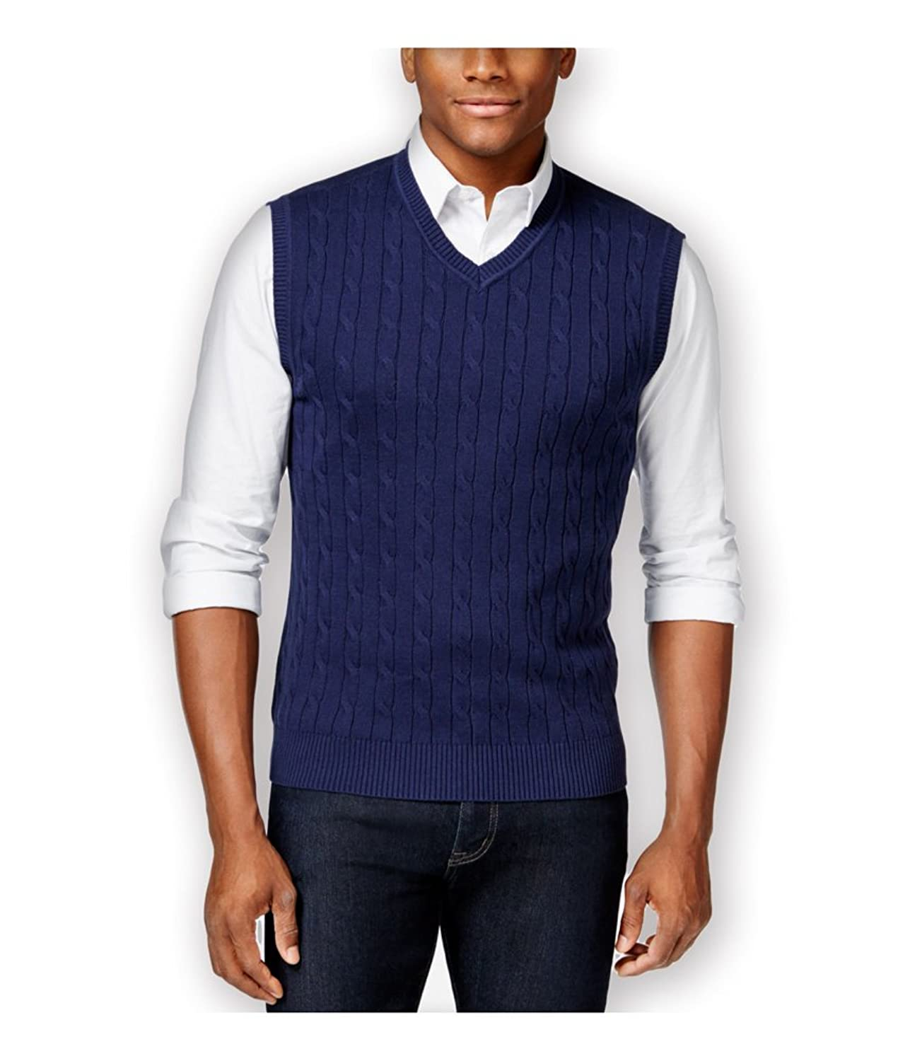 Club Room Mens Cable Sweater Vest