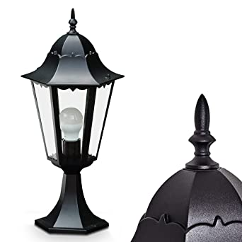 Lampe de jardin HongKong en noir : Lampadaire design retro | lampe d ...