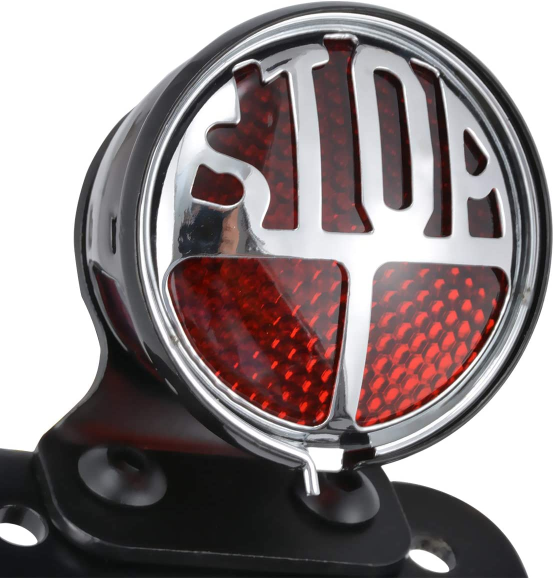 TUINCYN Motorrad R/ücklicht 1Kennzeichenhalter Halterung f/ür Harley Honda Yamaha Suzuki Harley Bobber Chopper Packung mit 1 Kawasaki
