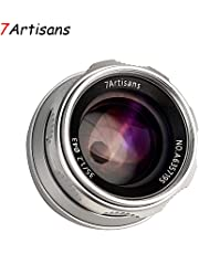 $145 » 7artisans 35mm F1.2 APS-C Manual Focus Lens Widely Fit for Compact Mirrorless Cameras Fuji X-A1 X-A10 X-A2 X-A3 A-at X-M1 XM2 X-T1 X-T10 X-T2 X-T20 X-Pro1 X-Pro2 X-E1 X-E2 E-E2s (Silver)