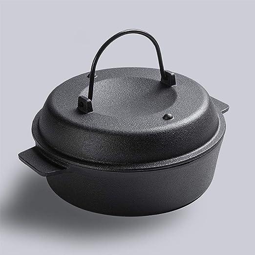Cookware - Cacerola de hierro fundido con tapa para horno (22 cm ...