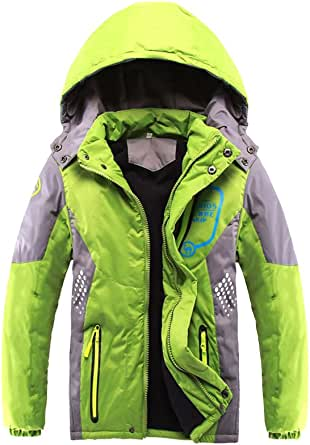 Phorecys - Chaqueta de invierno acolchada y gruesa con capucha para niño